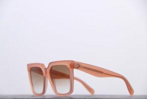 Celine lunettes de soleil épaisses carrées couleur nude