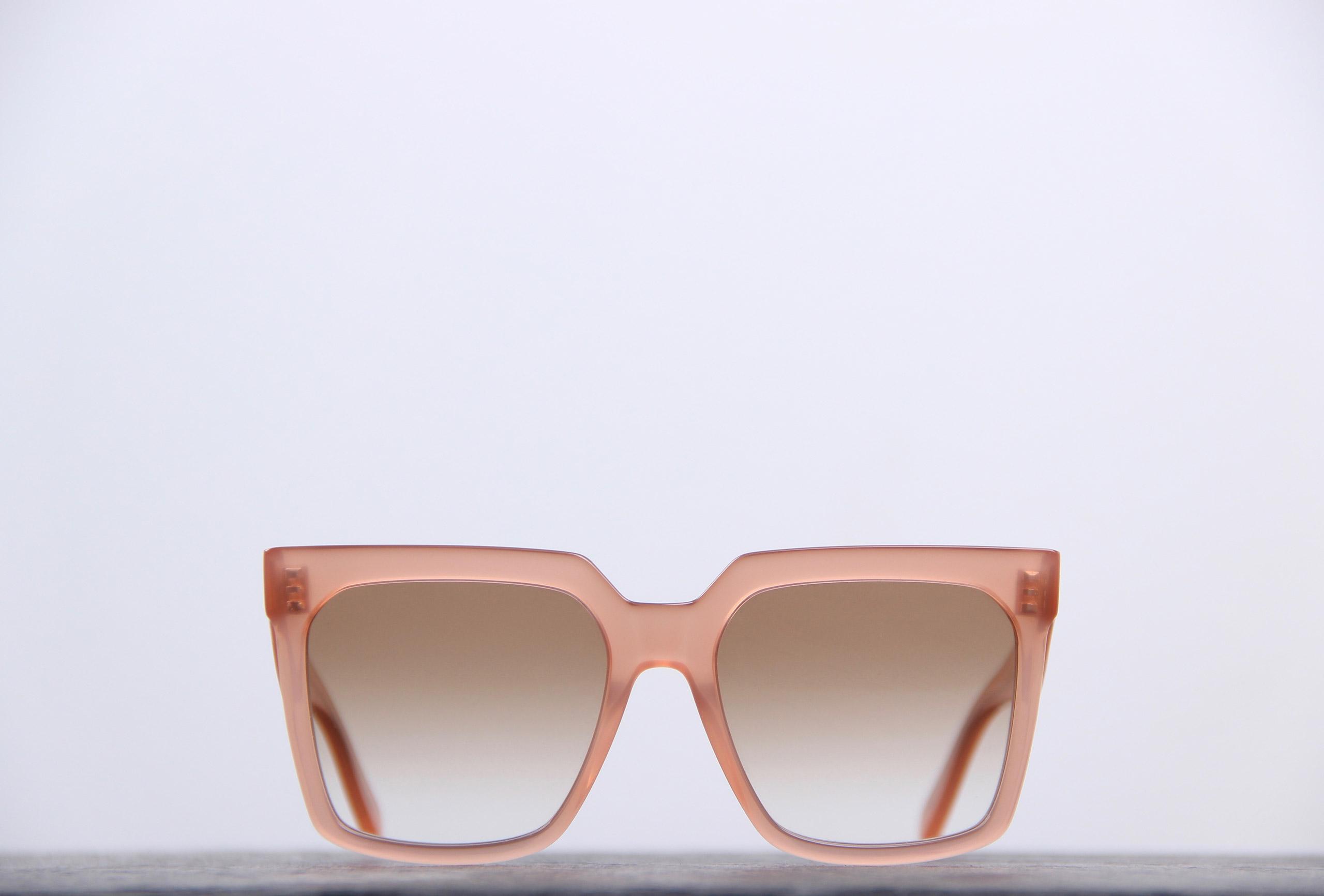lunettes carrées celine - monture épaisse couleur nude