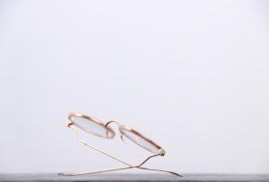 lunettes de vue femme en or rose signées clément gouverneur