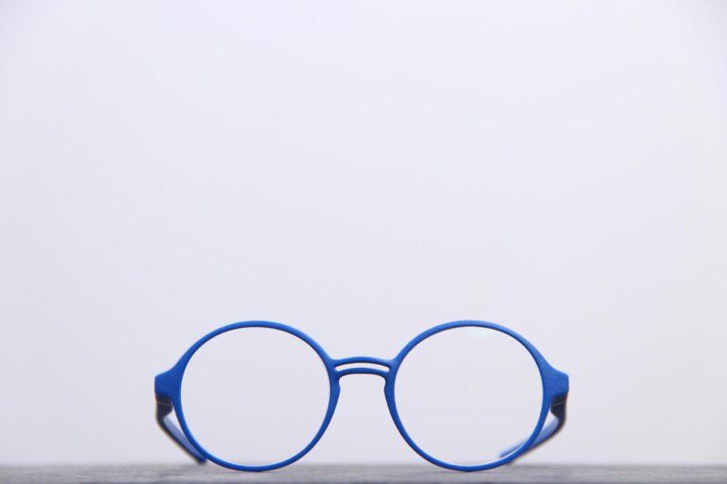 lunettes de vue bleues impression 3 D