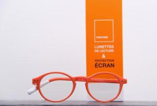 pantone lunettes orange pour la lecture